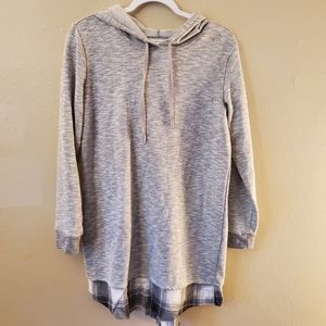 Maurices Gray Long Sleeve Hoodie Sweater Tunic M